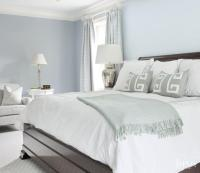Blue Bedroom with Gray Accents - Transitional - Bedroom
