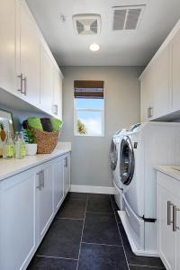 Galley Laundry Room - Contemporary - Laundry Room