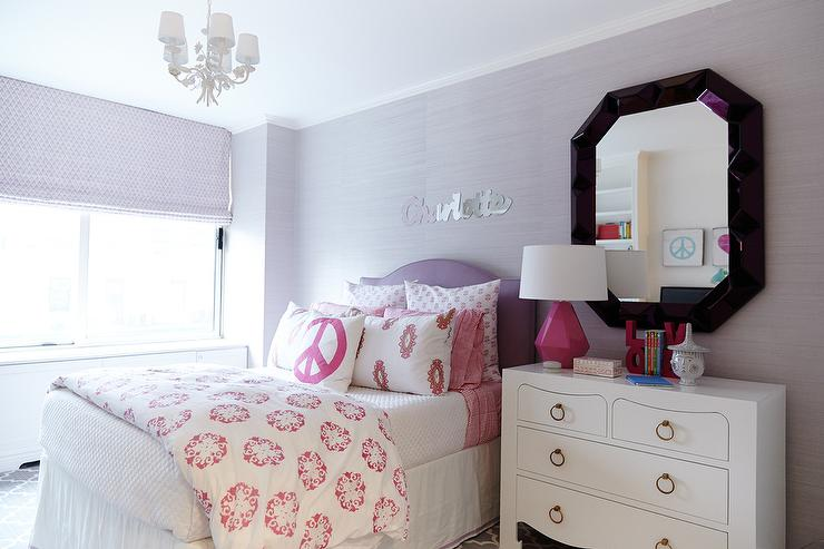 Purple Kids Room Pink Accents Design Ideas