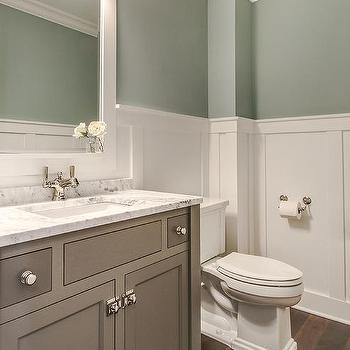 Creamy Gray Bathroom Vanity Design Ideas