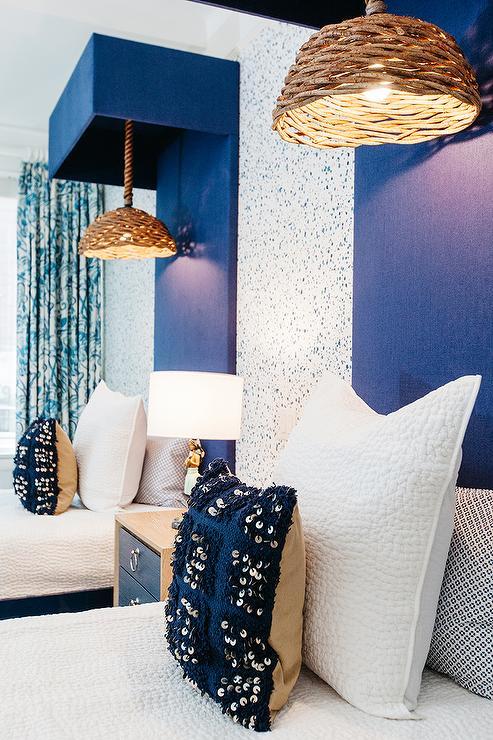 Hula Girl Wallpaper Blue And Orange Kids Bedroom Contemporary Boy S Room
