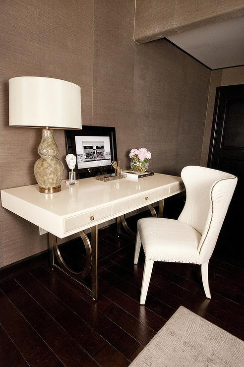 Master Bedroom with Desk  Transitional  Bedroom