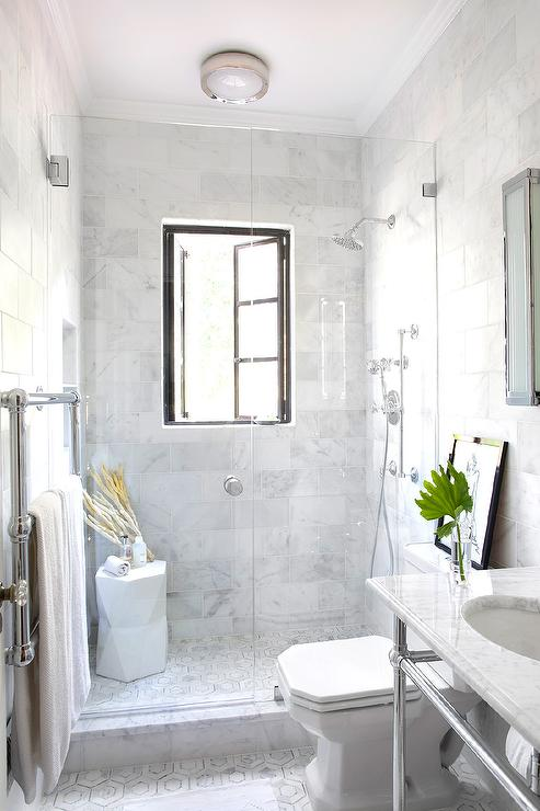 Shower with French Windows