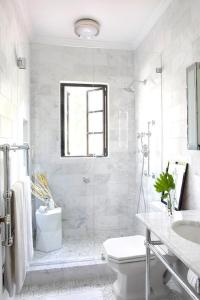 Shower with French Windows - Transitional - Bathroom