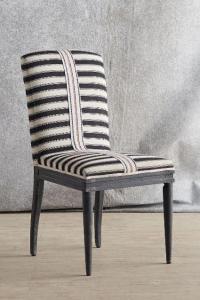 Grassland Stripe Black and White Dining Chair