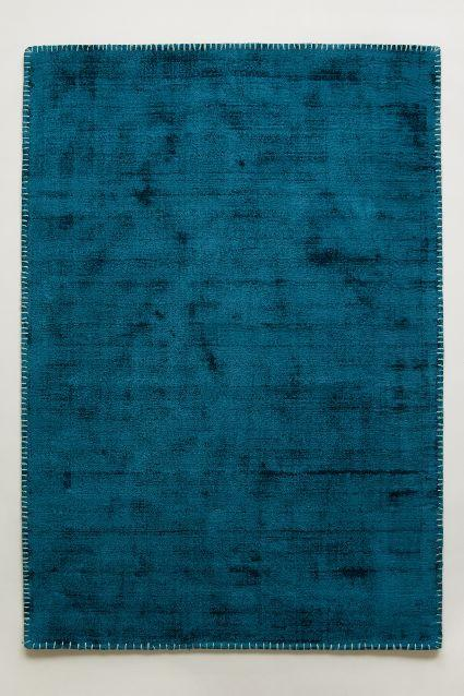 Whipstitch Turquoise Rug