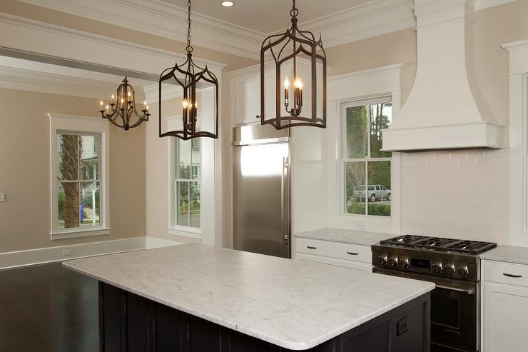 Beige Subway Tiles  Transitional  Kitchen