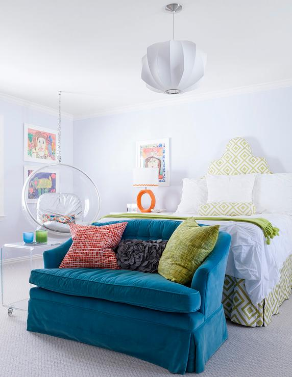 Kids Room with Corner Hanging Chair  Contemporary  Girl