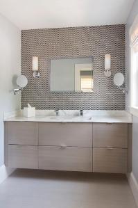 Taupe Floating Bathroom Vanity Design Ideas