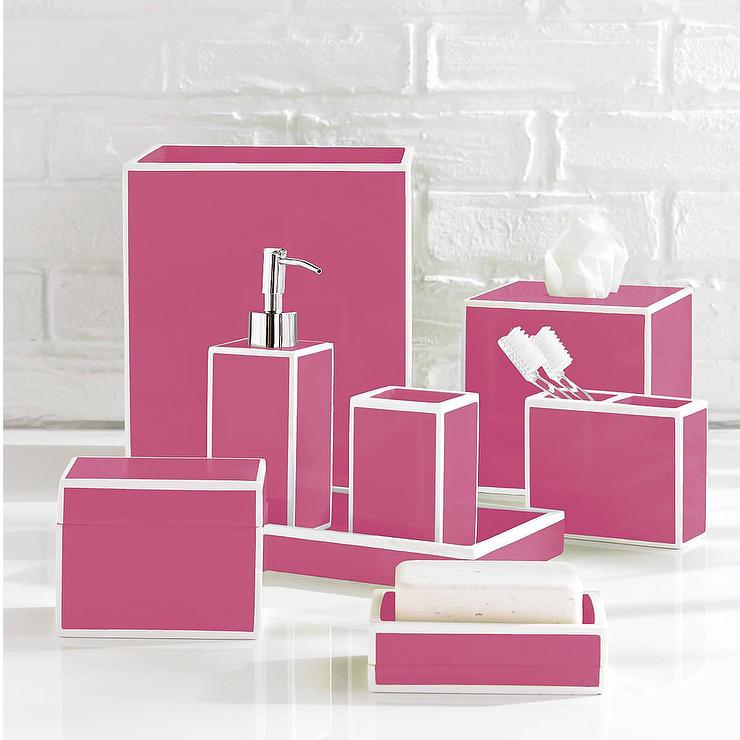 Luxury Pink Bath Accessory Sets