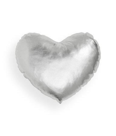 White Heart Pillow Little Crown Interiors
