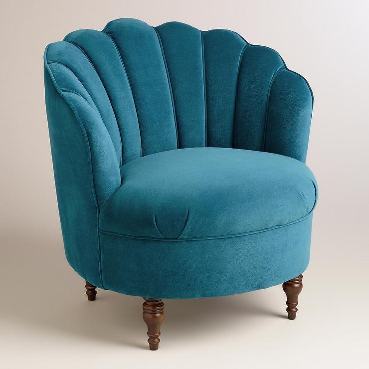 desk chair turquoise yoga peacock blue velvet telulah