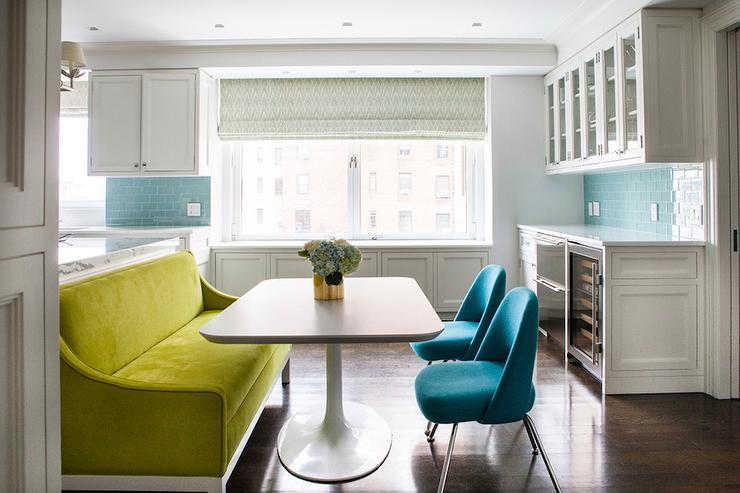 Green Dining Room Settee  Contemporary  Kitchen