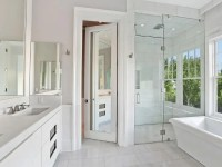 Water Closet with Mirrored Door - Transitional - Bathroom
