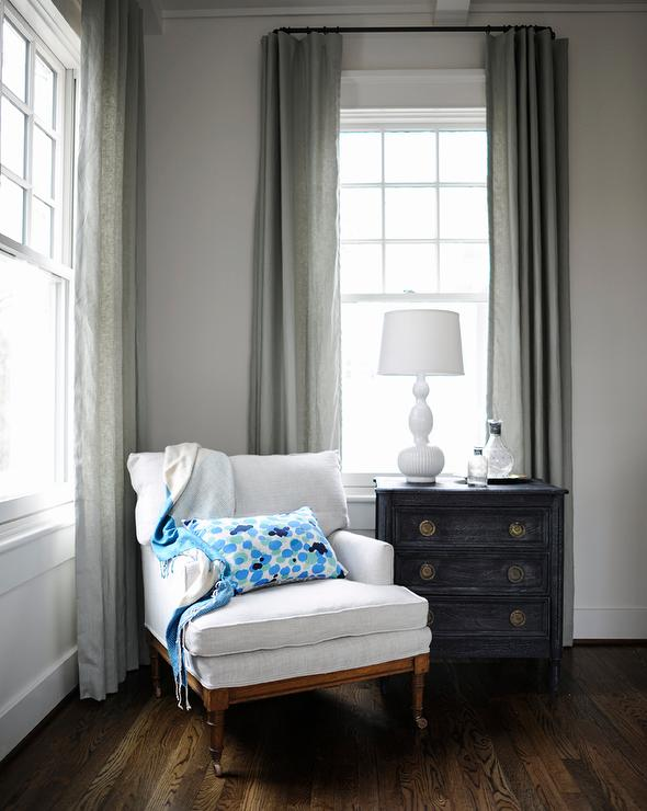 Navy And Gray Accent Chair