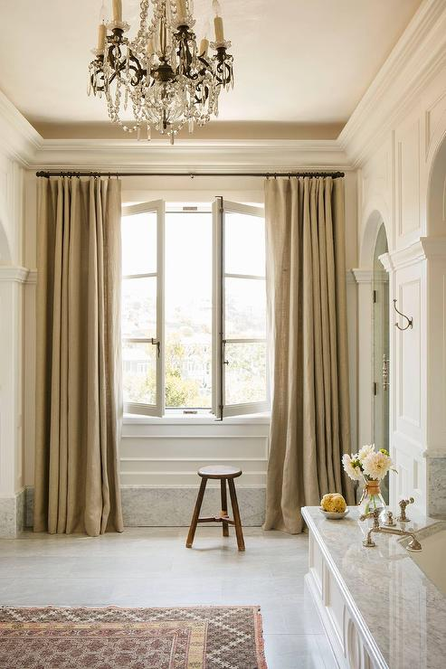 Master Bathroom with French Windows