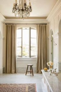 Master Bathroom with French Windows - French - Bathroom
