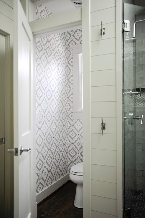 Water Closet Next to Shower  Contemporary  Bathroom