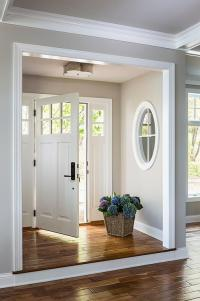 Foyer Nook with Basil Flush Mount - Transitional ...