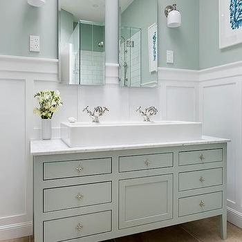 trough sink with 2 faucets design ideas