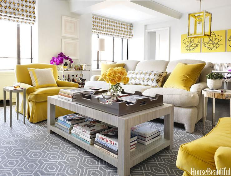 gray white and yellow living room ideas area rug for size contemporary