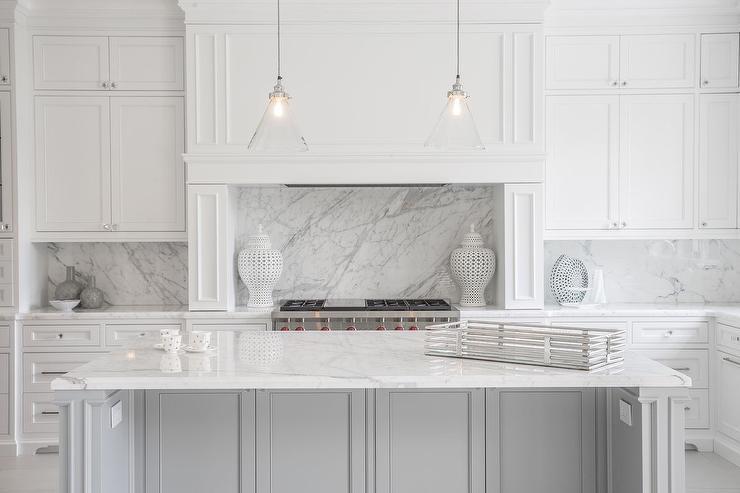 Statuario Marble Countertops  Contemporary  Kitchen