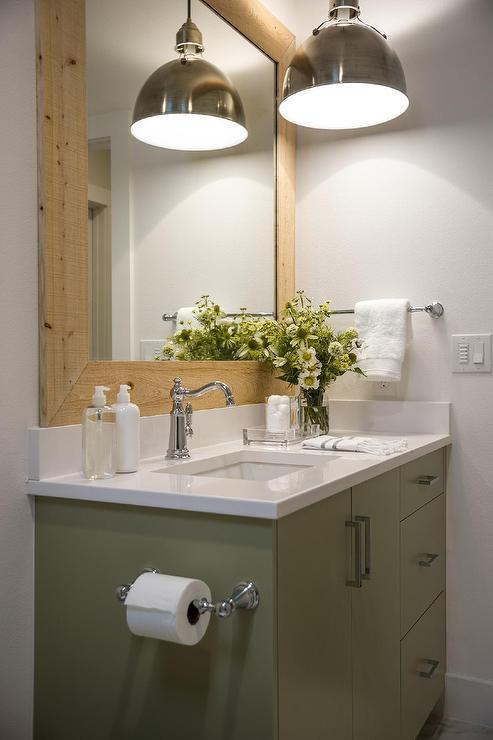 Green Bathroom Vanity  Cottage  Bathroom  Sherwin
