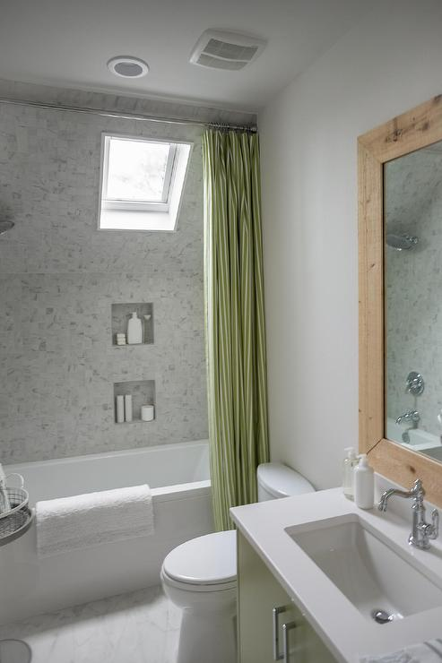 Dormer Shower and Tub Combo  Cottage  Bathroom  Sherwin
