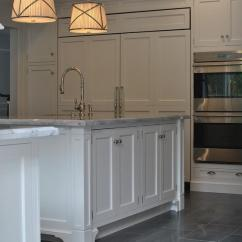 Gray Kitchen Floor Sink Brands With Staggered Tile Transitional