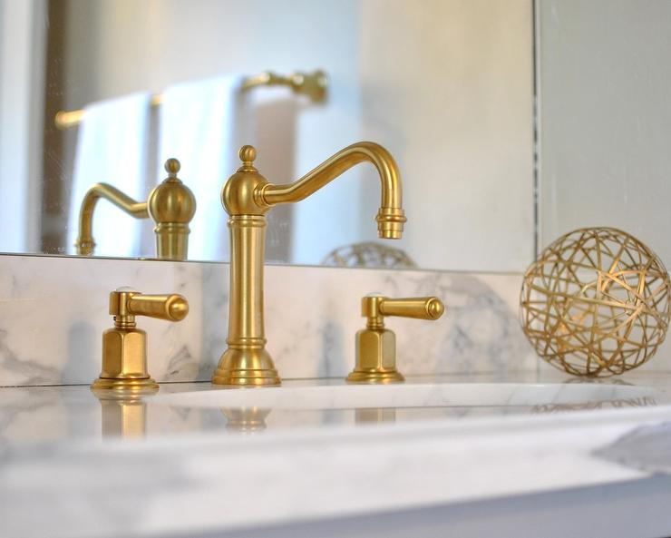 gold faucet bathroom image of