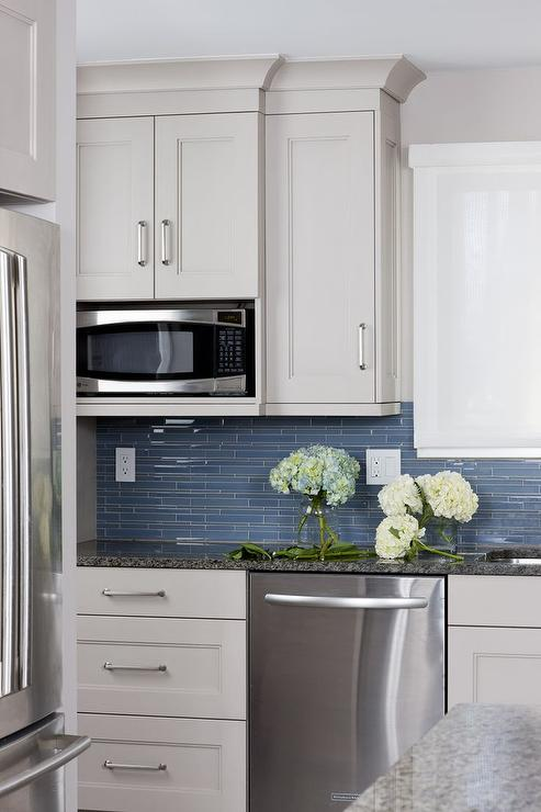 White And Blue Kitchens Transitional Kitchen