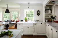 Kitchen Bay Window Nook Banquette - Transitional - Kitchen