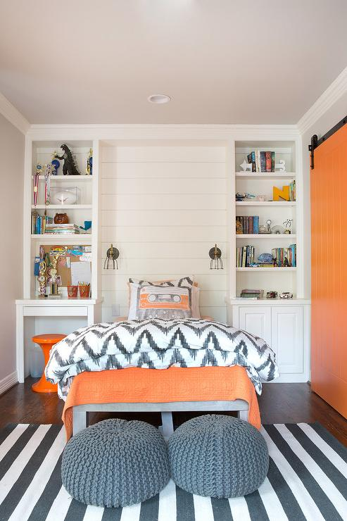 Orange and Gray Boys Bedrooms