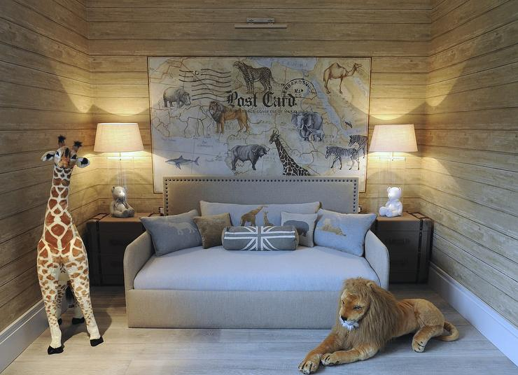 Safari Themed Boys Bedroom  Transitional  Boy's Room