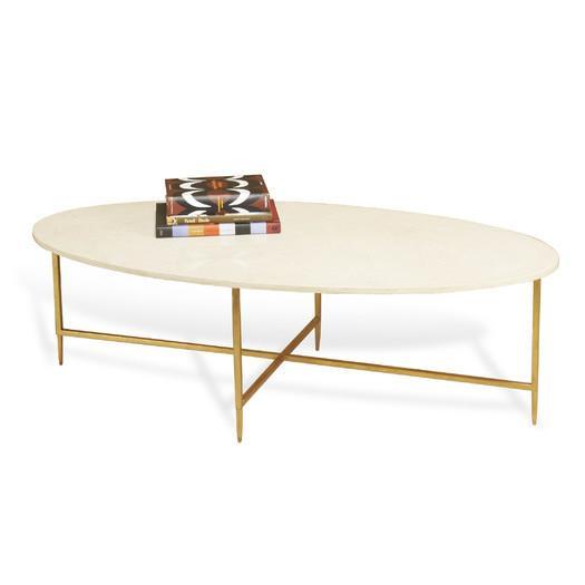Interlude Home Geometrics Gold Coffee Table