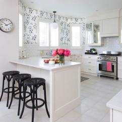 Suede Living Room Furniture Makeover Black And White Kitchen With Pink Accents - Transitional ...