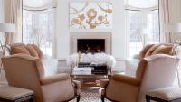 White and Camel Living Room - Contemporary - Living Room