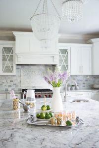 Gray and White Granite Countertops - Transitional - Kitchen