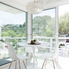 West Elm Chairs Outdoor Chair Sashes Ikea Docksta - Transitional Dining Room