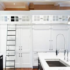 Kitchen Ladder How To Restore Cabinets With On Rails Cottage