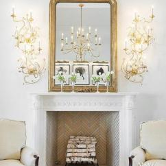 French Living Rooms Images Room Rug Size Ideas Modern Design Stacked Gold Fireplace Sconces View Full