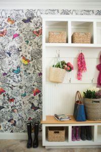 Mudroom Wallpaper Design Ideas
