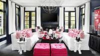 Black and Gray Living Room - Contemporary - living room ...