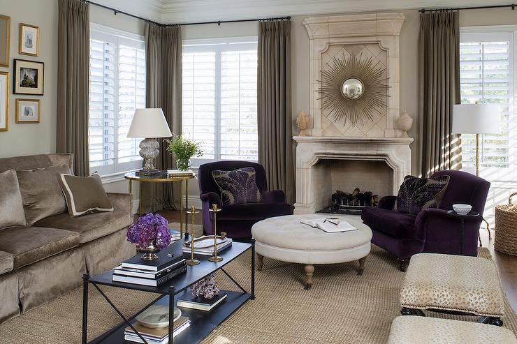 Manly Fall Wallpaper Purple Accent Chairs Design Ideas