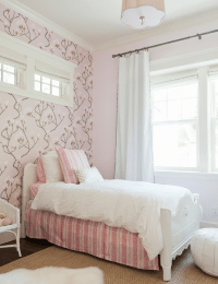 White And Pink Striped Wallpaper Design Ideas