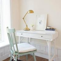 Mint Green Desk Chair - Cottage - Den/library/office