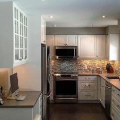 Kitchen Cabinets And Countertops Win Makeover Paint Gallery - Benjamin Moore Stonington Gray ...