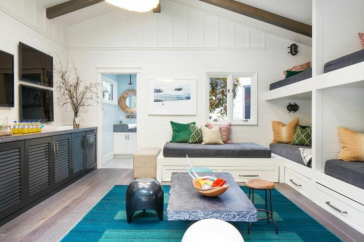 Pool House Built In Bunk Beds Cottage Bedroom