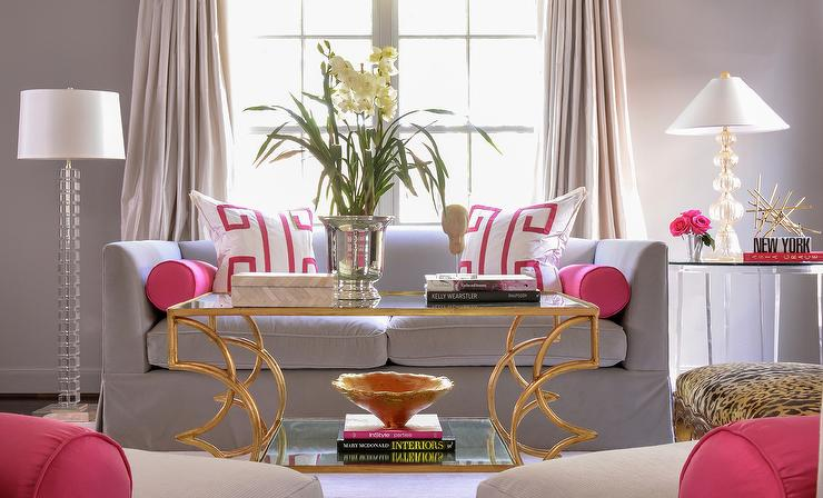 Wtsenates Exciting Pink Grey Living Room In Collection 6335