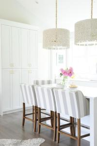 Striped Counter Stools - Contemporary - kitchen